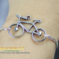 Antique Silvery Bike Bracelet MB635