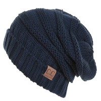 C.C. Exclusives Slouchy Beanie in Navy HAT-100-NAVY