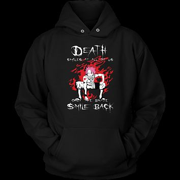 Fairy Tail - Death smiles at all of us only the brave smile back natsu - Unisex Hoodie T Shirt - TL01121HO