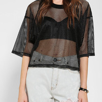Evil Twin Penalty Mesh Cropped Tee - Urban Outfitters