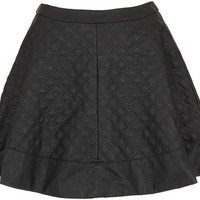 TOPSHOP Petite Quilted Skater Skirt