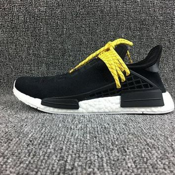 DCCKBE6 Adidas Boost Nmd Human Race Black Women Men Fashion Trending Running Sneakers