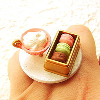 Elegant Food Ring Hot Chocolate Macarons by SouZouCreations