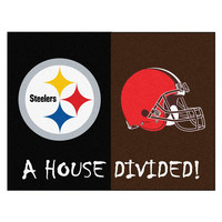 Pittsburgh Steelers-Cleveland Browns NFL House Divided NFL All-Star Floor Mat (34x45)