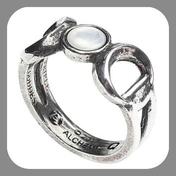 Triple Moon Mother Of Pearl Ring