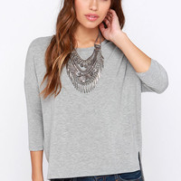 Sugar for Your Tee Grey High-Low Top