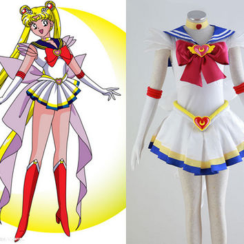 Super Sailor Moon Cosplay Costume Outfit from Sailor Moon