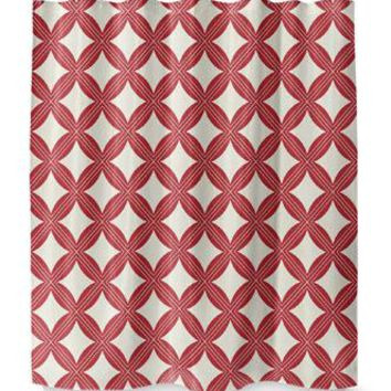 CHRISTMAS IN PLAID RED Shower Curtain By Terri Ellis