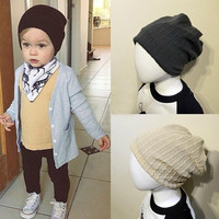 Popular Children Infant Toddler Beanie Hat Warm Winter Boys Girls Cap 5 Colors = 1695681796
