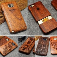 Natural Wood Case For iPhone X 7 8 Plus 6 6S 5 5S SE For Samsung Galaxy S7 S5 S6 S8 Edge Plus Note 3 4 5 8 Phone Cases
