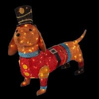 Home Accents Holiday, 40 in. 150-Light Tinsel Lighted Dachshund in Soldier Uniform, TY258-1414 at The Home Depot - Tablet