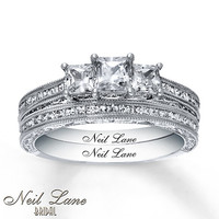 Neil Lane Bridal Set 1 1/2 ct tw Diamonds 14K White Gold