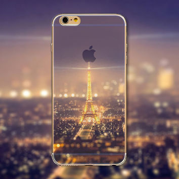 Beautiful Eiffel Tower iPhone Case Transparent Soft Silicone