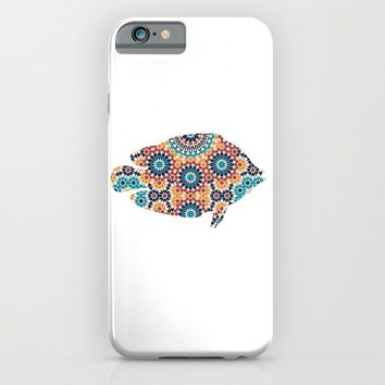 FISH SILHOUETTE WITH PATTERN iPhone & iPod Case by deificus Art