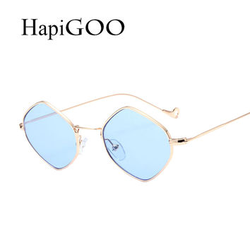 2017 New Fashion Prismatic Sunglasses Women Italy Brand Designer Daisy Mirror Sun Glasses Men Vintage Metal Frame Shades