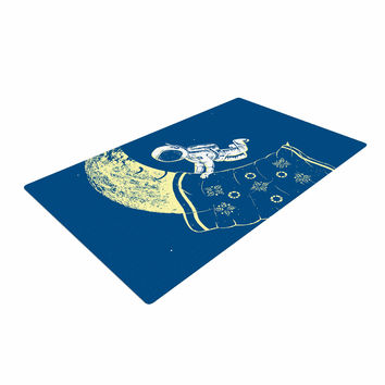 "Barmalisirtb ""You Need A Break"" Blue Moon Woven Area Rug"