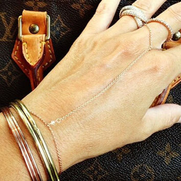 Extremely Simple Faux Crystal Braclet For Women