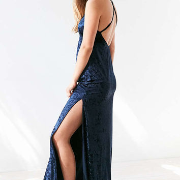Ecote Velvet Scoop-Back Maxi Dress - Urban Outfitters