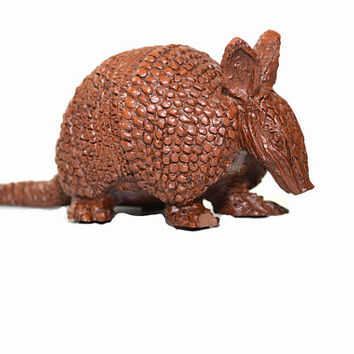 Vintage Wood Armadillo Carved Wood Armadillo  Armadillo Statue Southwestern Decor Southwestern Nursery Decor