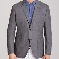 Unconstructed Blazer Slim - Lightweight Italian Wool - Grey
