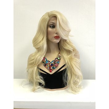 Blond Long Swiss lace front wig | Loose Curl Layered Hair| Always be True 518