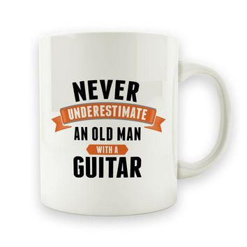 CREYMS2 Never Underestimate and Old Man With a Guitar - 15oz Mug