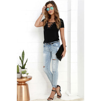 2017 Rushed Time-limited Casual Regular Polyester Solid Nylon Cotton Tops Camisetas Blusa Sexy V-neck Pure Color Bind T-shirt