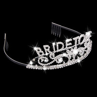 Bachelorette Tiara Hen Party Crown Bride to Be Bridal Shower Supply 2016 ee