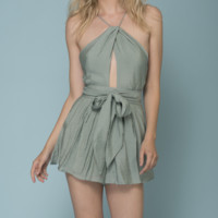 hamptons open back romper - more colors