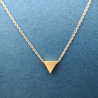 Tiniest, Triangle, Gold, Necklace