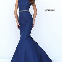 Mermaid Style Open Back High Neck Prom Dress by Sherri Hill