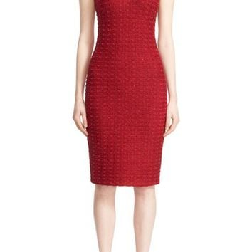 St. John Collection 'Anastasia' Knit V-Neck Sheath Dress | Nordstrom