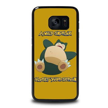 SNORLAX POKEMON Samsung Galaxy S7 Edge Case Cover