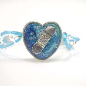 Blue Bandaid Bracelet