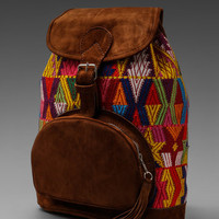 STELA 9 Diego Mini Backpack in Orange Huipil from REVOLVEclothing.com