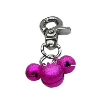 Bell Collar Charm — Hot Pink