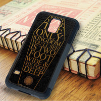 The House Of Wolves Lyric Quote Samsung Galaxy S5 Case