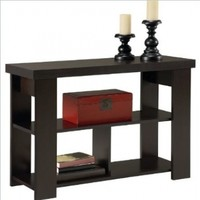 Hollow Core Sofa Table, Black Forest Finish