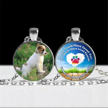 DIY Jewelry Rainbow Bridge Love Forever Pet Loss Pendant Necklace 3 Colors