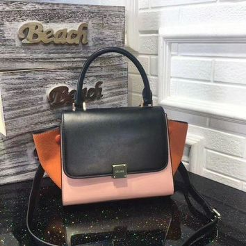 DCCK7J3 Celine Women Leather Shoulder Bag Tote Handbag