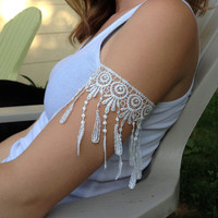 Coachella Bohemian Lace Upper Arm Dreamcatcher Cuff