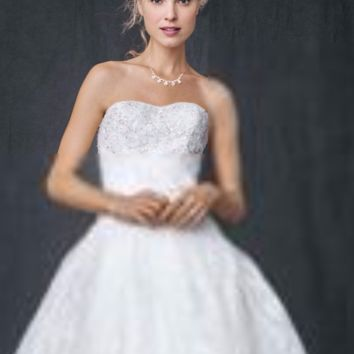 Strapless All Over Beaded Lace Ball Gown - Davids Bridal