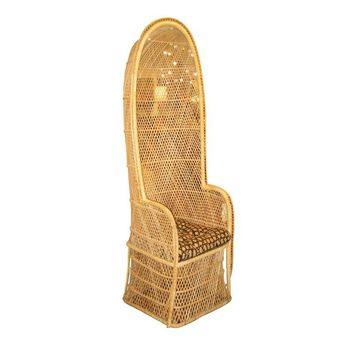 Pre-owned Vintage Woven Rattan Porters Chair