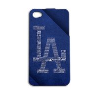 LA Dodgers Case Baseball Case Cool Case LA Case iPod 5 Case iPhone Cover iPhone 4 iPhone 5 iPhone 4s iPhone 5s Case iPod 4 Case iPod Touch
