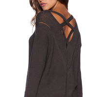 heartLoom Britton Sweater in Charcoal