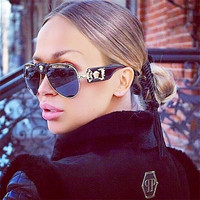 Women Sunglasses Leather Buckle