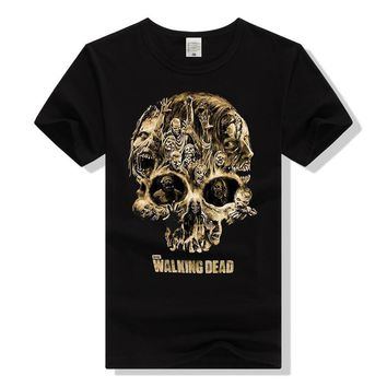 The Walking Dead T Shirt TWD Skull T-Shirt for Men Women Unisex Tee Clothing Cotton Short Sleeve Tshirt Girl Top