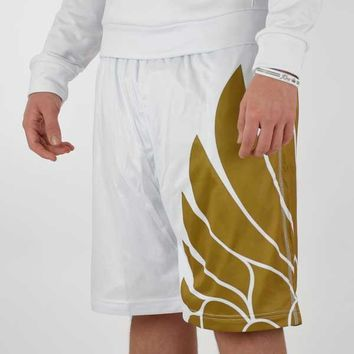 Icarus White and Gold shorts