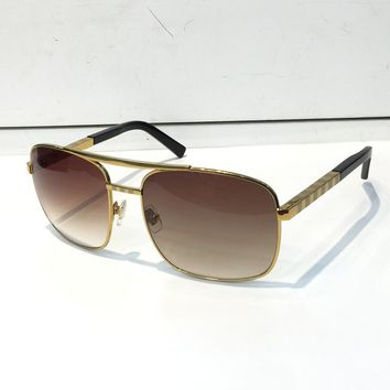 Luxury Attitude Sunglasses For Men Fashion 0260 design UV Protection Lens Square Full Frame Gold Color Plated Frame Come With Package