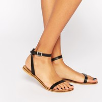 ASOS FINLAY Leather Flat Sandals at asos.com